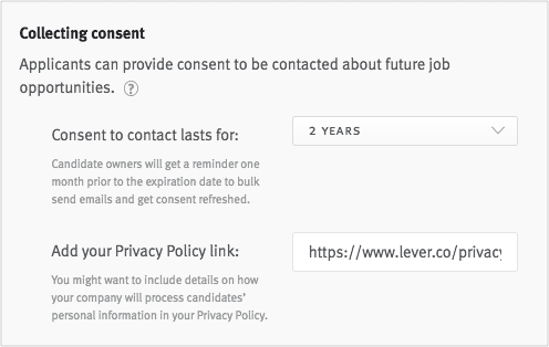 GDPR Collecting Consent