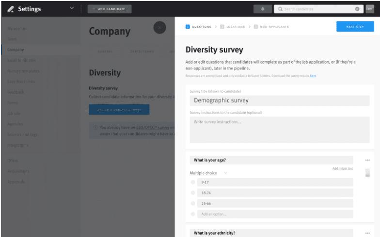 lever diversity software