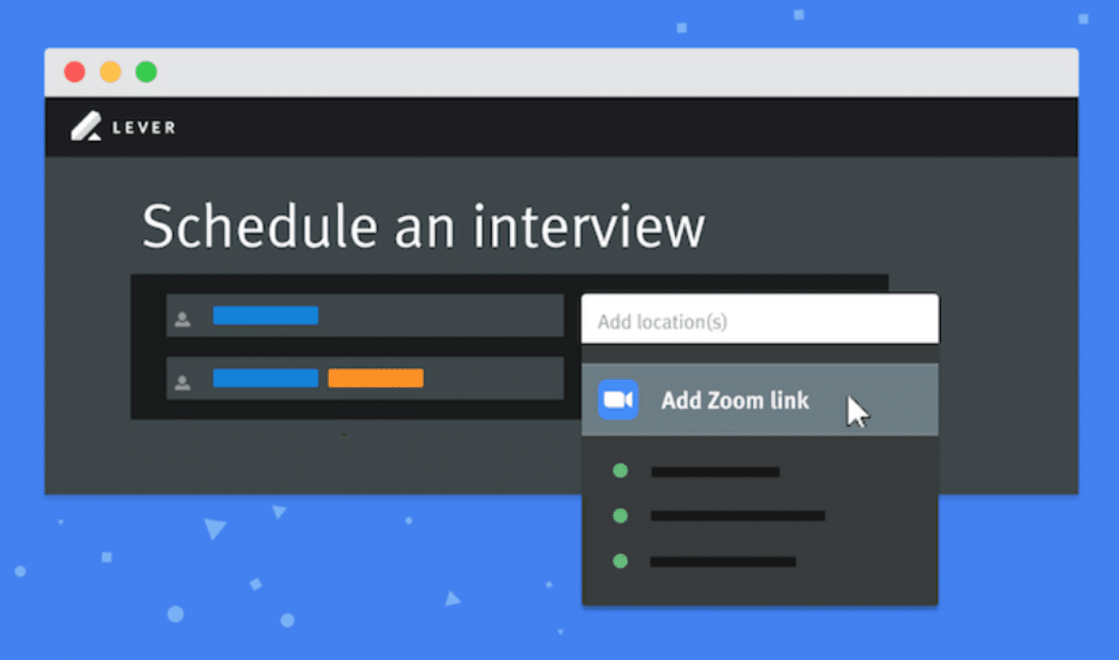 lever schedule an interview