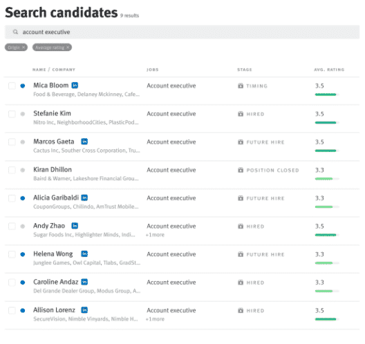 lever trm app candidate search