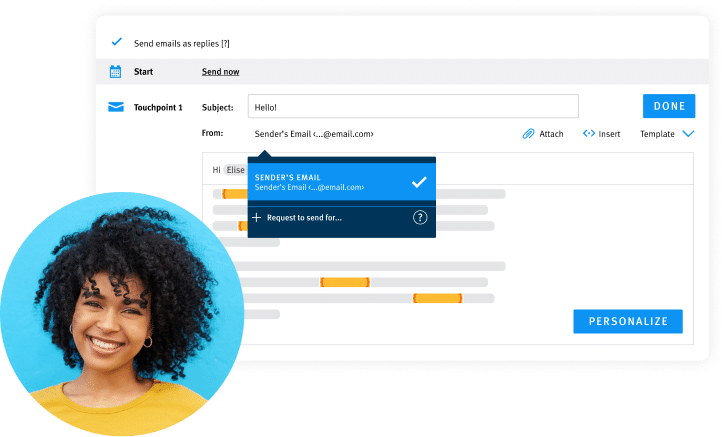 Advanced Nurture Personalized email screen