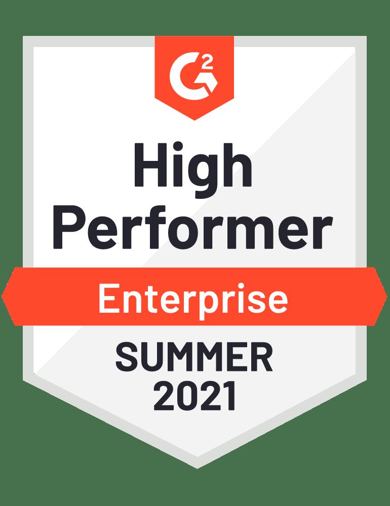 Award Badge High Performer Enterprise Recruiting Software