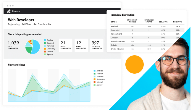Product screen talent relationship management candidate data