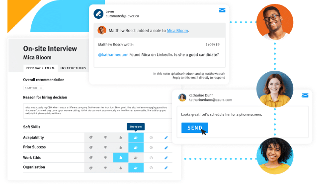 Product screen lever interview and hire talent relationship management