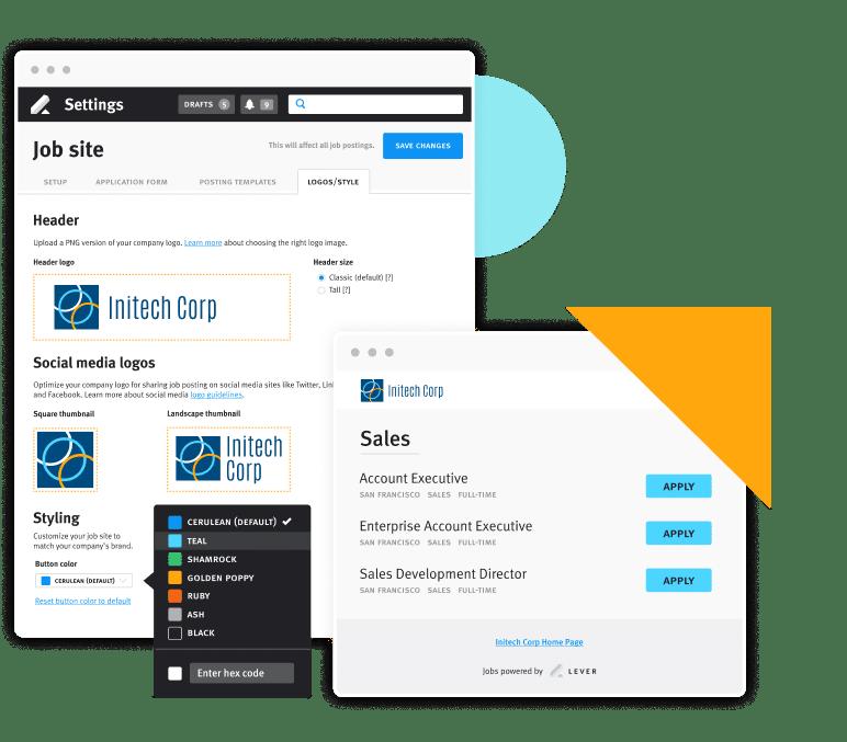 Product Screen Custom Brand Job Board Software